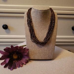Silpada bronzite and copper necklace